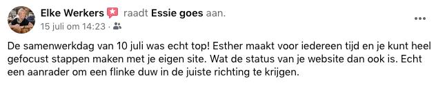 Review Elke samenwerkingsdag